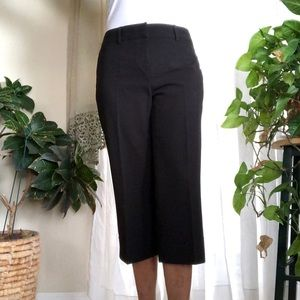 Jessica Wide Leg Black Crop Pants
